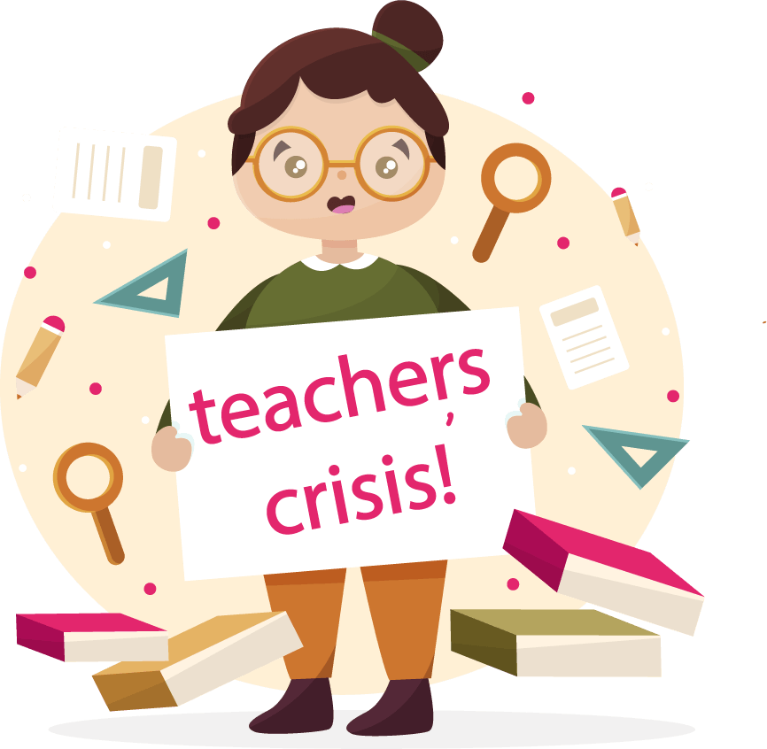 An image of a teacher in crisis!